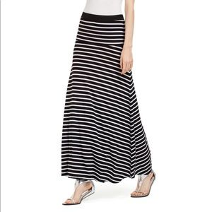 BCBGMAXAZRIA Karolin Ribbed Stripe Maxi Skirt